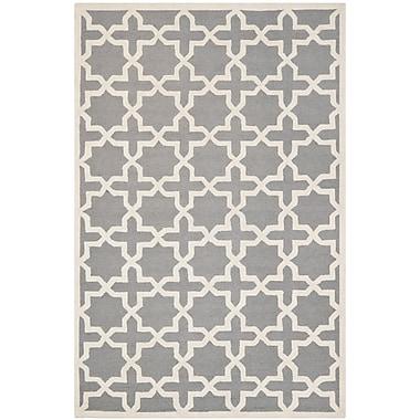 Safavieh Trinity Cambridge Wool Pile Area Rug, Silver/Ivory, 6' x 9'