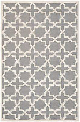 Safavieh Trinity Cambridge Wool Pile Area Rug, Silver/Ivory, 5' x 8'