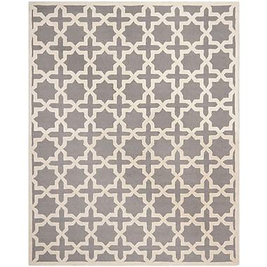Safavieh Trinity Cambridge Wool Pile Area Rug, Silver/Ivory, 8' x 10'