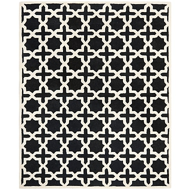 Safavieh Trinity Cambridge Wool Pile Area Rug, Black/Ivory, 8' x 10'