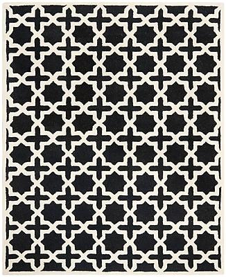 Safavieh Trinity Cambridge Wool Pile Area Rug, Black/Ivory, 8' x 10'