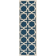 Safavieh Trinity Cambridge Navy Blue/Ivory Wool Pile Area Rugs