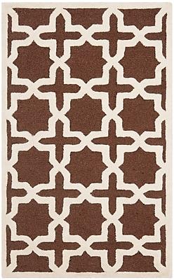 Safavieh Trinity Cambridge Wool Pile Area Rug, Dark Brown/Ivory, 2' x 3'