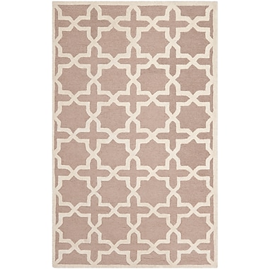 Safavieh Trinity Cambridge Wool Pile Area Rug, Beige/Ivory, 5' x 8'