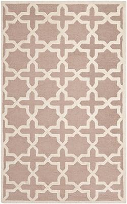 Safavieh Trinity Cambridge Wool Pile Area Rug, Beige/Ivory, 5' x 8'