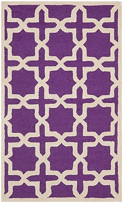 Safavieh Trinity Cambridge Wool Pile Area Rug, Purple/Ivory, 3' x 5'