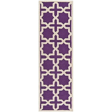 Safavieh Trinity Cambridge Wool Pile Area Rug, Purple/Ivory, 2' 6