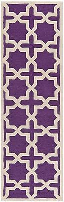 Safavieh Trinity Cambridge Wool Pile Area Rug, Purple/Ivory, 2' 6