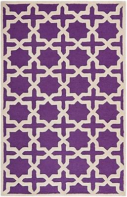 Safavieh Trinity Cambridge Wool Pile Area Rug, Purple/Ivory, 4' x 6'