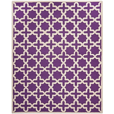 Safavieh Trinity Cambridge Wool Pile Area Rug, Purple/Ivory, 8' x 10'