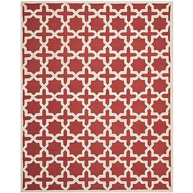 Safavieh Trinity Cambridge Wool Pile Area Rug, Rust/Ivory, 8' x 10'