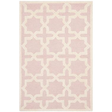 Safavieh Trinity Cambridge Wool Pile Area Rug, Light Pink/Ivory, 3' x 5'