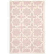 Safavieh Trinity Cambridge Light Pink/Ivory Wool Pile Area Rugs
