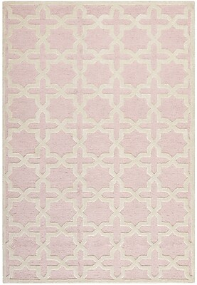 Safavieh Trinity Cambridge Wool Pile Area Rug, Light Pink/Ivory, 6' x 9'