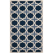 Safavieh Valentina Cambridge Wool Pile Area Rug, Light Blue/Ivory, 5' x 8'