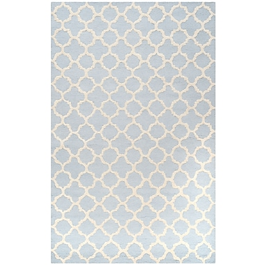 Safavieh Sharon Cambridge Wool Pile Area Rug, Light Blue/Ivory, 8' x 10'