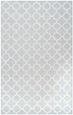 Safavieh Sharon Cambridge Wool Pile Area Rug, Light Blue/Ivory, 8' x 10'