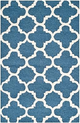 Safavieh Sharon Cambridge Wool Pile Area Rug, Navy/Ivory, 2' x 3'