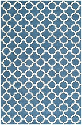 Safavieh Sharon Cambridge Wool Pile Area Rug, Navy/Ivory, 4' x 6'