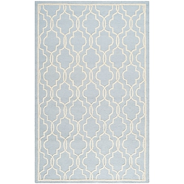 Safavieh Scarlett Cambridge Light Blue/Ivory Wool Pile Area Rugs