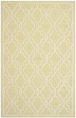 Safavieh Scarlett Cambridge Wool Pile Area Rug, Light Green/Ivory, 5' x 8'