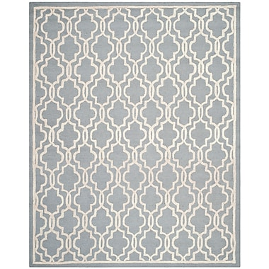 Safavieh Scarlett Cambridge Wool Pile Area Rug, Silver/Ivory, 8' x 10'