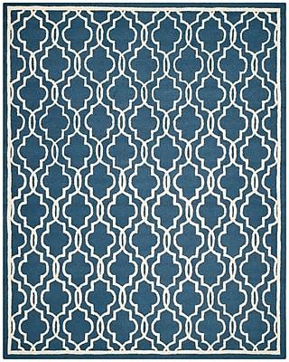 Safavieh Scarlett Cambridge Wool Pile Area Rug, Navy/Ivory, 8' x 10'