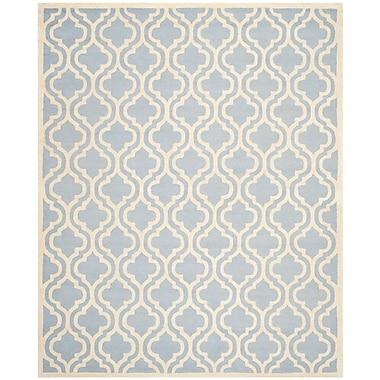 Safavieh Rachel Cambridge Wool Pile Area Rug, Light Blue/Ivory, 8' x 10'