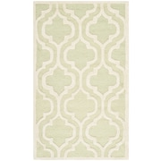 Safavieh Rachel Cambridge Light Green/Ivory Wool Pile Area Rugs