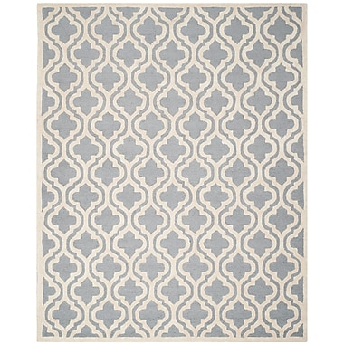 Safavieh Rachel Cambridge Wool Pile Area Rug, Silver/Ivory, 8' x 10'