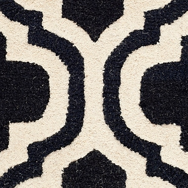 Safavieh Rachel Cambridge Wool Pile Area Rug, Black/Ivory, 2' 6