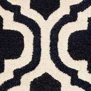 "Safavieh Rachel Cambridge Wool Pile Area Rug, Black/Ivory, 2' 6"" x 4'"