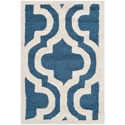 Safavieh Rachel Cambridge Navy/Ivory Wool Pile Area Rugs
