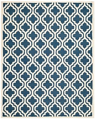 Safavieh Rachel Cambridge Wool Pile Area Rug, Navy/Ivory, 6' x 9'