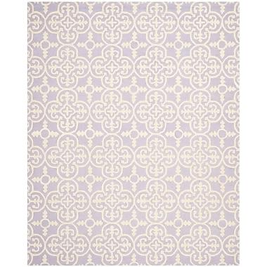 Safavieh Quinn Cambridge Wool Pile Area Rug, Lavender/Ivory, 8' x 10'