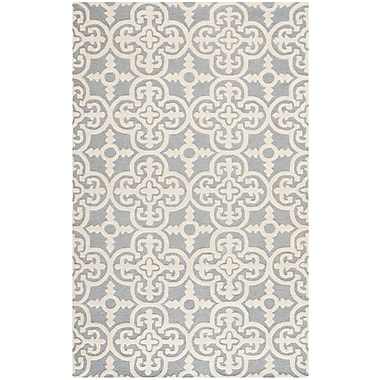 Safavieh Quinn Cambridge Wool Pile Area Rug, Silver/Ivory, 5' x 8'