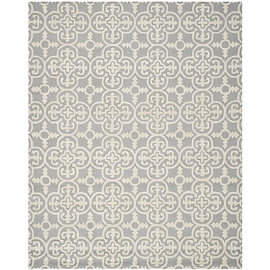 Safavieh Quinn Cambridge Wool Pile Area Rug, Silver/Ivory, 6' x 9'
