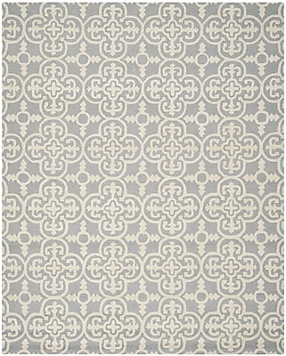 Safavieh Quinn Cambridge Wool Pile Area Rug, Silver/Ivory, 8' x 10'