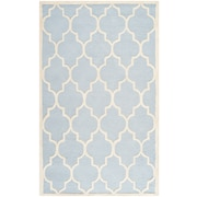 Safavieh Penelope Cambridge Light Blue/Ivory Wool Pile Area Rugs