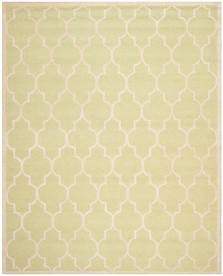 Safavieh Penelope Cambridge Wool Pile Area Rug, Light Green/Ivory, 8' x 10'