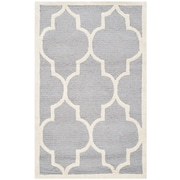 Safavieh Penelope Cambridge Silver/Ivory Wool Pile Area Rugs