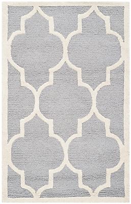 Safavieh Penelope Cambridge Wool Pile Area Rug, Silver/Ivory, 2' x 3'