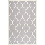 "Safavieh Cambridge Area Rug, 72"" x 108"", Silver/Ivory (CAM134D-6)"