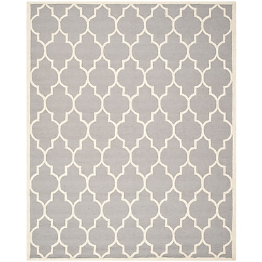 Safavieh Penelope Cambridge Wool Pile Area Rug, Silver/Ivory, 6' x 9'