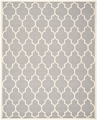 Safavieh Penelope Cambridge Wool Pile Area Rug, Silver/Ivory, 8' x 10'