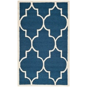 Safavieh Penelope Cambridge Navy/Ivory Wool Pile Area Rugs