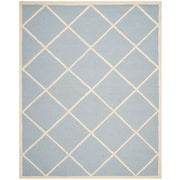 Safavieh Madelyn Cambridge Wool Pile Area Rug, Light Blue/Ivory, 8' x 10'