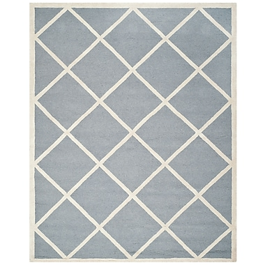 Safavieh Madelyn Cambridge Wool Pile Area Rug, Silver/Ivory, 8' x 10'