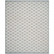 Safavieh Leslie Cambridge Wool Pile Area Rug, Silver/Ivory, 8' x 10'
