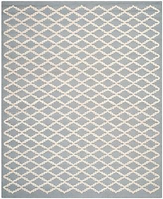 Safavieh Leslie Cambridge Wool Pile Area Rug, Silver/Ivory, 8' x 10'